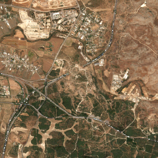 satellite view of the region around Al Haditha
