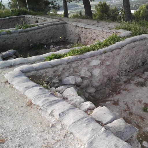 ruins at Tel Azekah