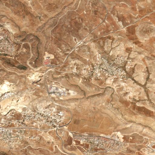 satellite view of the region around Tell Maryam