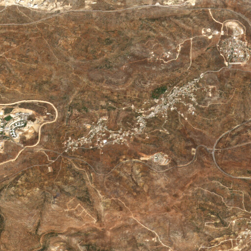 satellite view of the region around Tell Abu Zarad