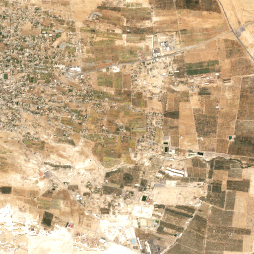 satellite view of the region around Khirbet en Nitleh