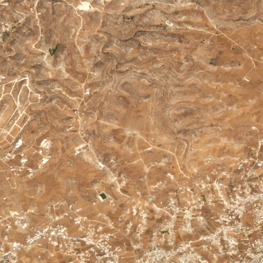 satellite view of the region around Khirbet Kafr Jul