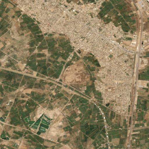 satellite view of the region around Mesčin