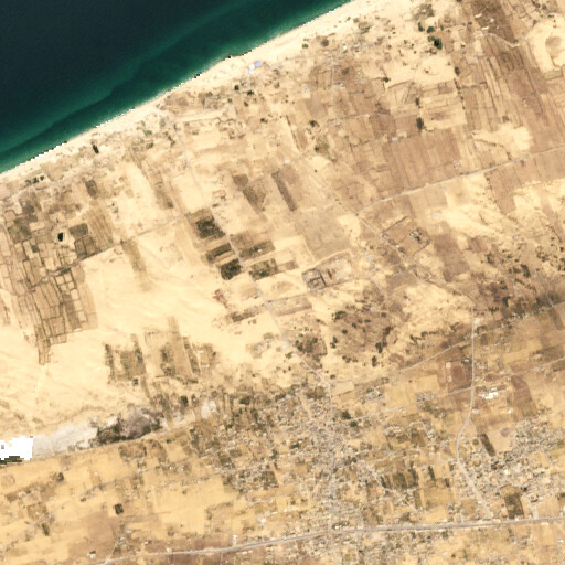 satellite view of the region around Tel Abu Seleimeh