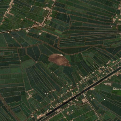 satellite view of the region around Tell Belim
