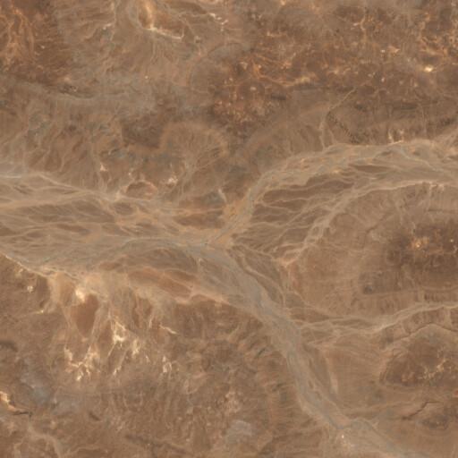 satellite view of the region around Wadi er Retame