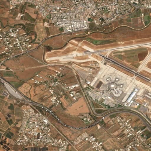 satellite view of the region around Wadi esh Shellal