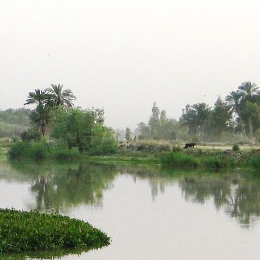 panorama of the Al Gharraf River