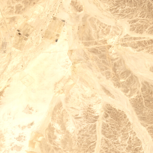 satellite view of the region around Wadi el Beidha