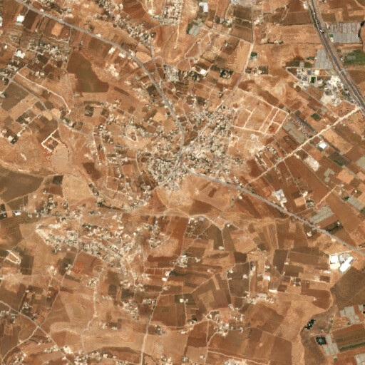 satellite view of the region around Umm el Hanafish