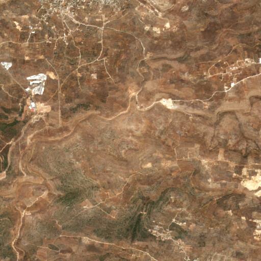 satellite view of the region around Khirbet Tafsah
