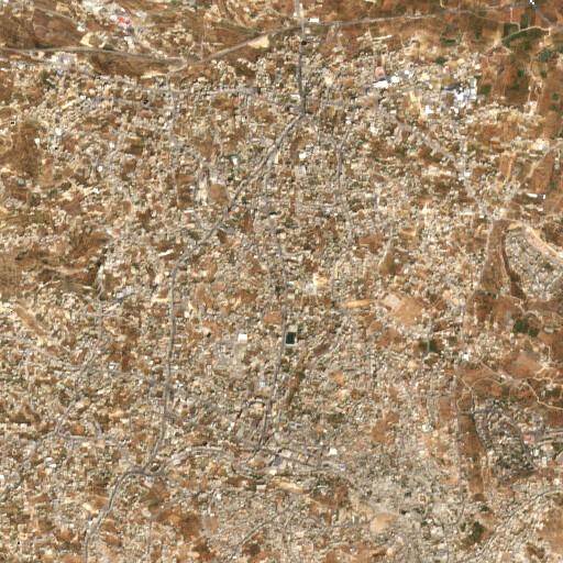 satellite view of the region around Ain Sarah