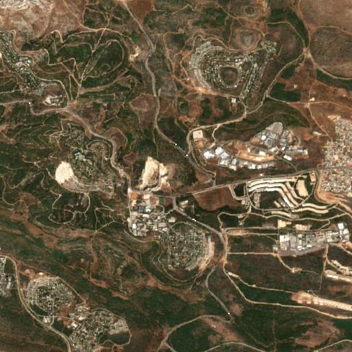 satellite view of the region around Khirbet el Jemeijimeh