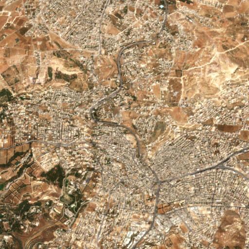 satellite view of the region around Tell Safut