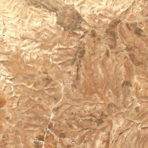 satellite view of the region around Khirbet Ataruz