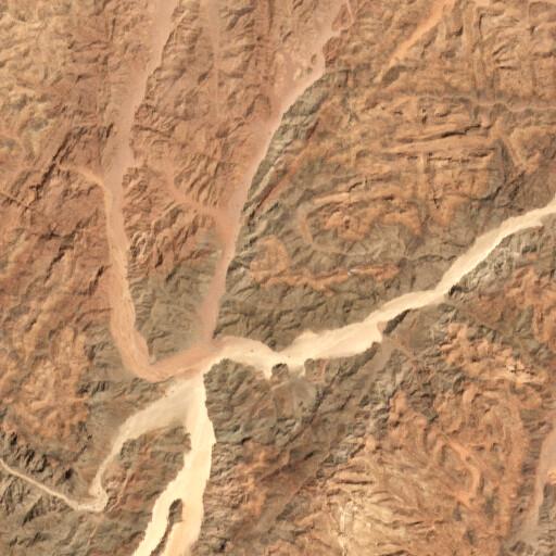 satellite view of the region around Jebel Aradeh