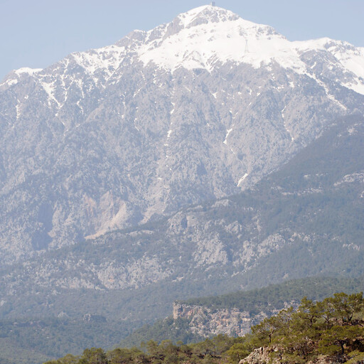 panorama of a mountain in Lycia