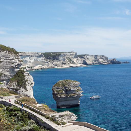 panorama of cliffs on Sardinia