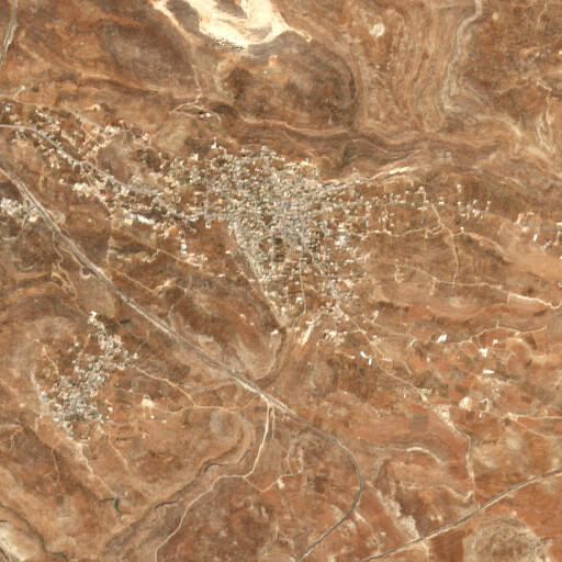 satellite view of the region around Khirbet Haiyan