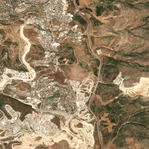 satellite view of the region around Khirbet Zanu