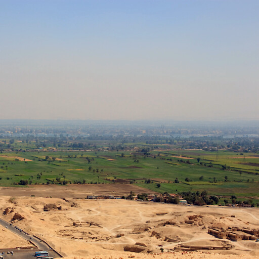 aerial panorama of Luxor in Upper Egypt