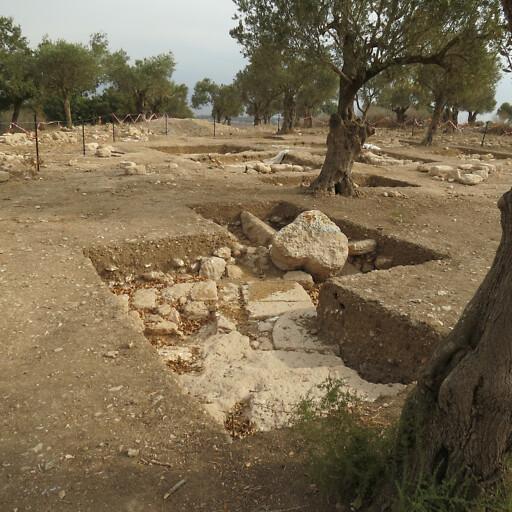 ruins at Khirbet el Lon