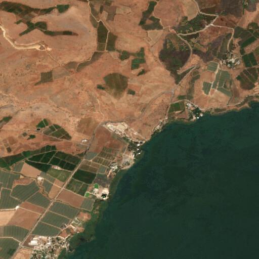 satellite view of the region around Tel Kinrot