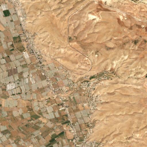 satellite view of the region around Tell el Qos