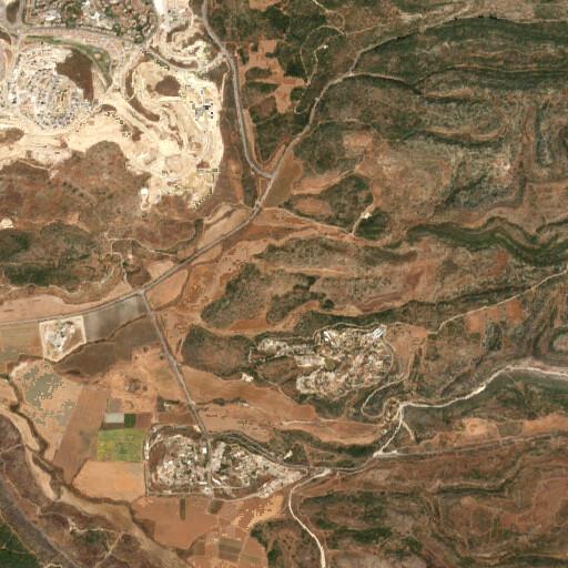 satellite view of the region around Khirbet Beit Ika