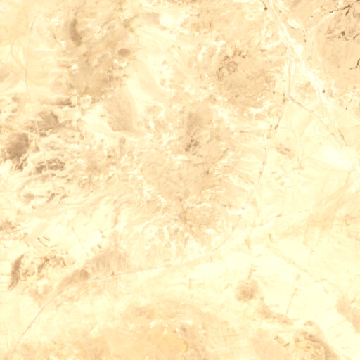 satellite view of the region around Jebel es Sabha