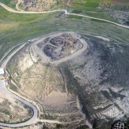 aerial panorama of ruins at Herodium