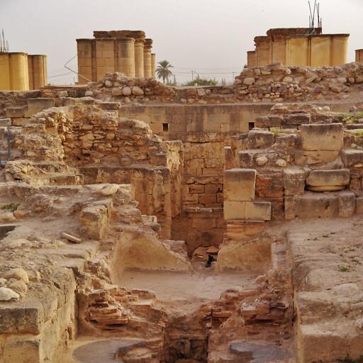 ruins at Khirbet el Mefjir