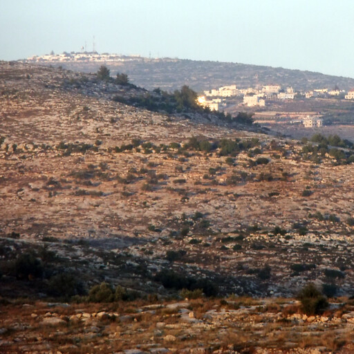 panorama of hills in the region between Gibeah and Ramah