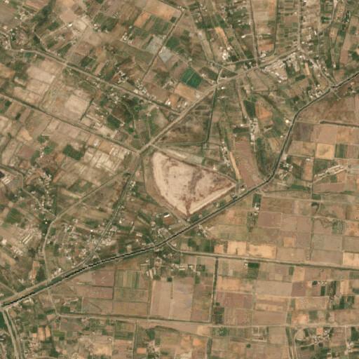 satellite view of the region around Tell ed Der