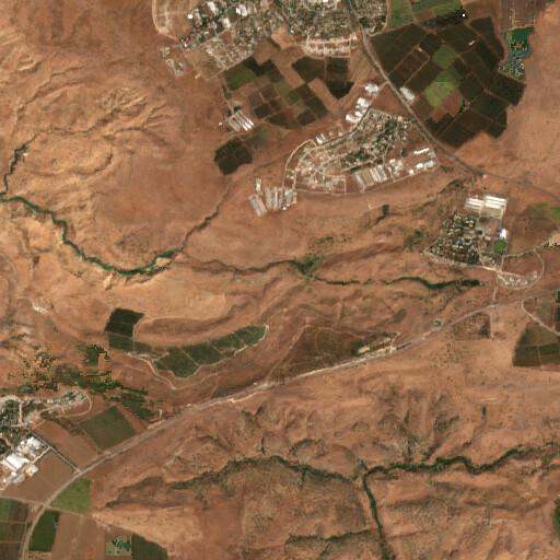 satellite view of the region around Tell Soreg