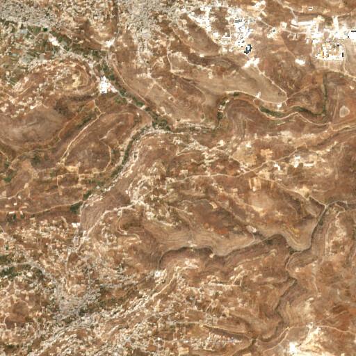 satellite view of the region around Khirbet ez Zawiya
