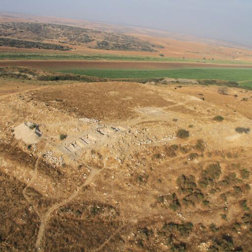 aerial panorama of Tell Bornat