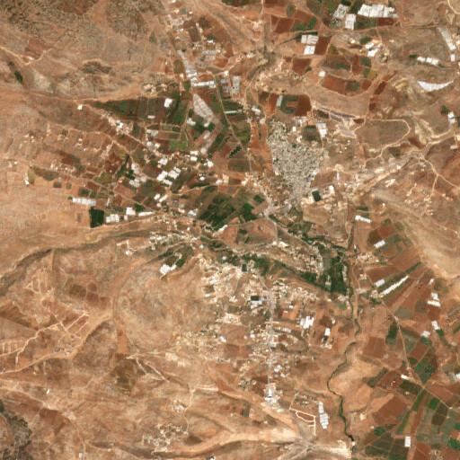 satellite view of the region around Tell el Farah