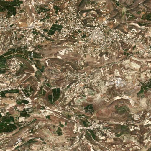 satellite view of the region around Yanouh