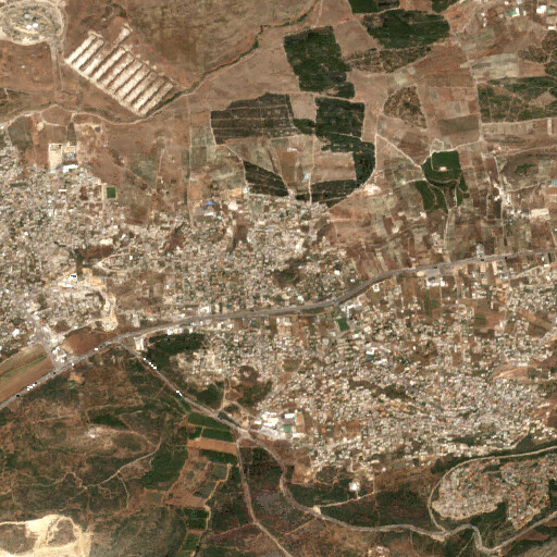 satellite view of the region around Khirbet 'Ara