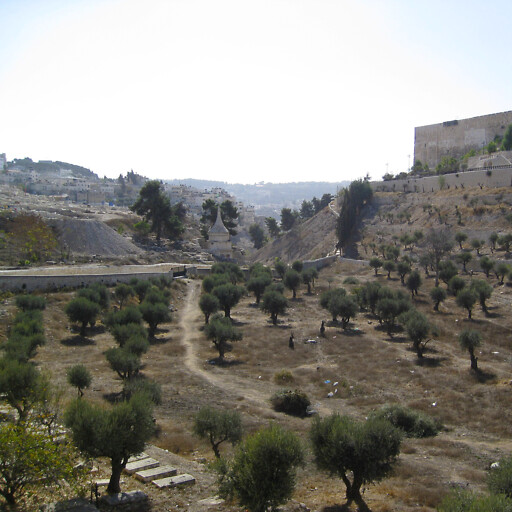 panorama of the Kidron Valley at Jerusalem
