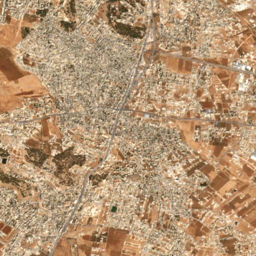 satellite view of the region around Khirbet Nefaah