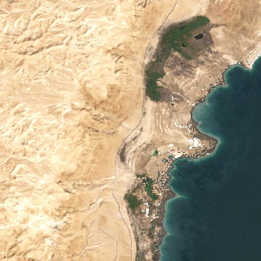 satellite view of the region around Ein et Turaba