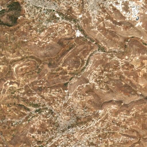 satellite view of the region around Khirbet Kuweiziba