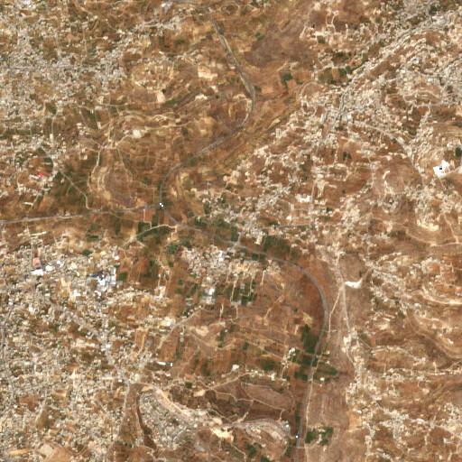 satellite view of the region around Khirbet Beit Anun