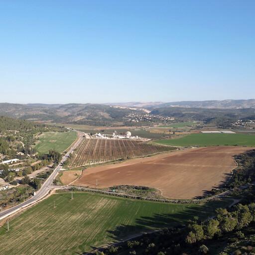 panorama looking east of the Valley of Elah