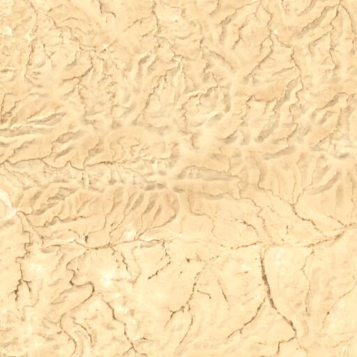 satellite view of the region around Jebel el Hamrah