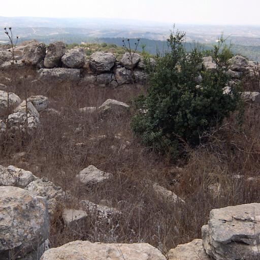 ruins at Khirbet et Tabbaneh