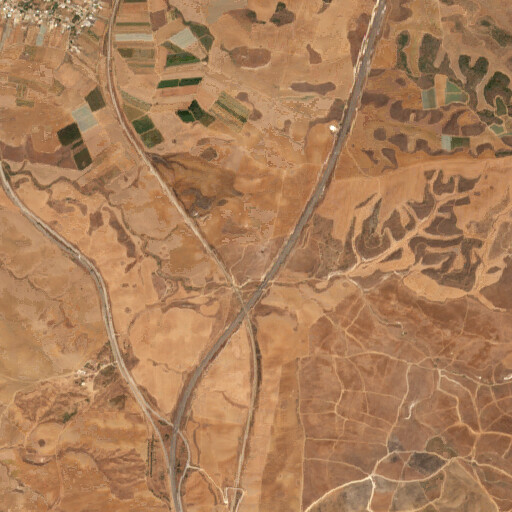 satellite view of the region around Khirbet Umm al Baqar