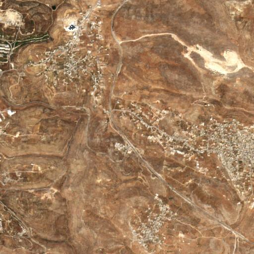 satellite view of the region around Khirbet el Maqatir